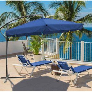 Garden Pleasure Ampelschirm Ø 3m Sonnenschirm Schirm Sonnenschutz blau