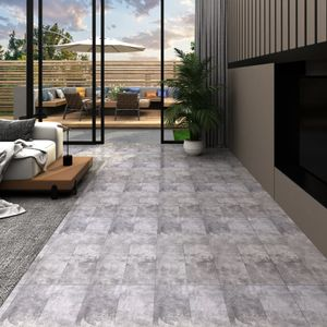 PVC-Laminat-Dielen Fliesen Bodenbelag | für Wohnzimmer Schlafzimmer Büro 5,26 m² 2 mm Zementbraun - 44058