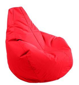 Sitzsack Gamer in der Farbe rot, Durchmesser 100cm / Höhe 100cm