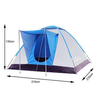 Campingzelt mit Vorraum, Familienzelt,Iglu-Zelt für 3-4 Personen, Blau