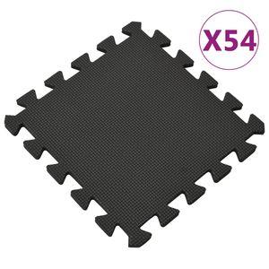 vidaXL Bodenmatten 54 Stk. 4,86 ㎡ EVA-Schaumstoff Schwarz