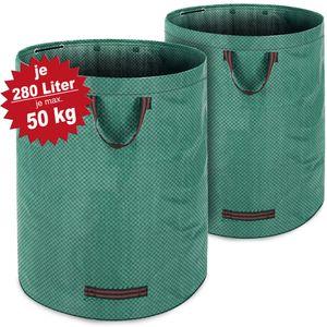 2x Gartenabfallsack Laubsack  280 Liter = 560L | bis zu 50kg belastbar | zusammenfaltbar | Gartensack Gartentasche Rasensack