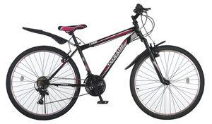 24 Zoll Kinder Mädchen Fahrrad Mountainbike Mädchenfahrrad Mädchenrad Kinderfahrrad MTB Rad Bike Gabelfederung Federgabel 21 Gang Shimano TIGER Schwarz Pink