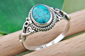 Türkis Ring 925 Silber blau grün (MRI 42-15),  Ringgröße:60 mm / Ø 19.1 mm