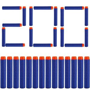 200 Darts Pfeile für Nerf Zubehör 7.2cm Pfeile Refill Bullets Darts - geeignet für N-Strike / Elite / X- Shot Blasters Spielzeugpistole Blau Orange Dart Blaster