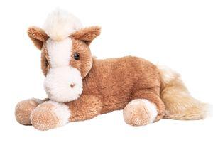 Uni-Toys - Pferd braun, liegend - superweich - 28 cm (Länge) - Plüsch-Pferd - Plüschtier, Kuscheltier