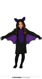 Fiestas Guirca kostüm Fledermaus Mädchen schwarz Größe 96/108