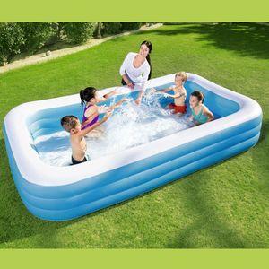 Bestway Family Pool Deluxe | 305 x 183 x 56 cm | Kinder Schwimmbecken rechteckig