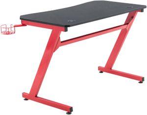 CLP Gaming Tisch Hayward, Farbe:schwarz/rot