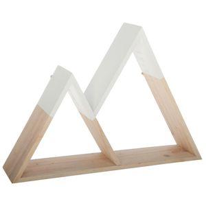 Dekoratives Wandregal Dreiecke, Hängerega, Holzregale 40 cm x 27,5 cm x 8 cm
