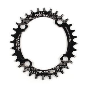 Bike Narrow Wide Kettenblatt Kurbel Oval Runde Single Chainwheel MTB Mountainbike BCD 104MM Kettenblaetter 32T / 34T / 36T