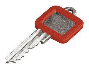 Home Xpert Schlüsselkennring ECKIG, rot 27 x 25 mm, 17 x 15 mm
