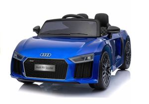 Kinderauto Audi R8 V10 Cabrio Blau elektrisch 12V Elektroauto Kinder