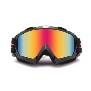 Crossbrille Skibrille Motocross Brille Sport Sonnenbrille Schneebrillen Schwarz-Rot Film