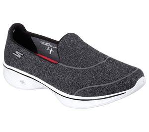 SKECHERS Damen Fitness Sneaker Slipper Loafer GO WALK 4 SUPER SOCK 4 Schwarz Gr. 39