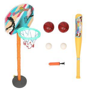 Kinder Basketballständer Basketballkorb mit Ständer und Baseball-Kombination Basketball Backboard Ständer & Hoop Set 18x45-85cm