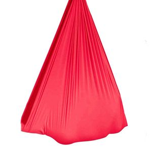 Outdoor Indoor Soft Nylon Elastic Schaukelsitz Hängematte für sensorische Kindertherapie-Hellrot