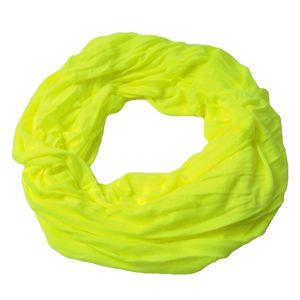 Niklarson Loop Schal Tuch neon-gelb Rundschal 160x45cm uni Schlauch T5082