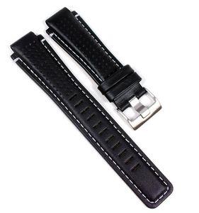 Timex Ersatzband Uhrenarmband Leder Band Wasserfest Schwarz 16mm für T2N740