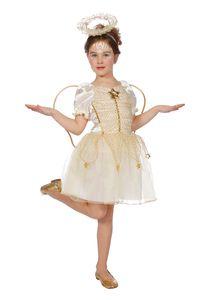 Engel-Kleid mit Flügeln, Größe:140