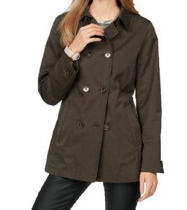 FUCHS & SCHMITT Übergangs-Jacke schlichte Damen Caban-Jacke mit doppelter Knopfleiste Khaki, Größe:34