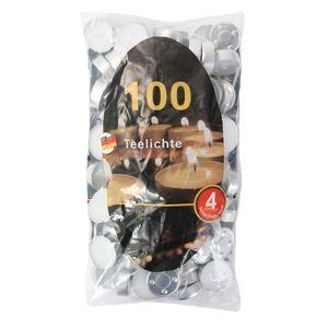 Teelichter weiß 100 Stück im Beutel ca. 40mm Durchmesser
