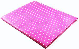 Tischdecke pink mit Pünktchen - ca 130 x 170 cm - abwaschbar