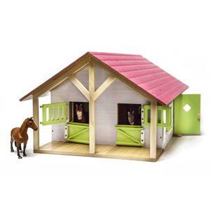 Kids Globe Bauernhof Pferdestall mit 2 Boxen und 1 Werkstatt 1:24 610168