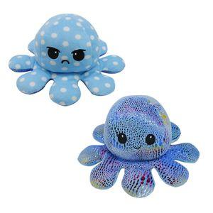 (Stil 13) Kuscheltiere, Niedliche Oktopus-Plüsch-Spielzeug, Doppelseitig Flip Oktopus-Stofftierpuppe, Kreatives Spielzeug, Geschenke für Kinder