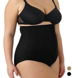 Naomi & Nicole Shapewear Damen - Bauchweg Unterhose Damen (S-XXL) Body Shaper Miederhose Bauch weg - Figurformende Wäsche, Farben:Schwarz (BK), Größe:2XL (46)