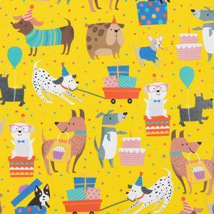Geschenkpapier Hunde mit Geschenken 70cm x 2m, Rolle