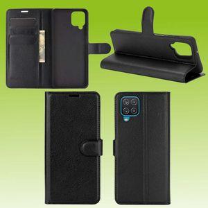 Für Samsung Galaxy A12 A125F Handy Tasche Wallet Premium Schwarz Schutz Hülle Case Cover Etuis Neu Zubehör
