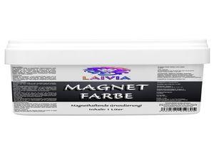 1 Liter LAIVIA MAGNETFARBE + 1 Pin Magnet – magnethaftende Grundierung