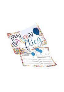 50 Ballonflugkarten inkl Befestigungsloch Flieg Ballon Flieg schwebende Luftballons ca 14,8 x 10,5cm