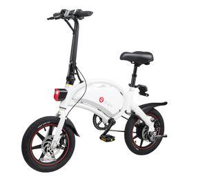 "DYU D3 plus 14 ""Faltendes Fahrrad E-Bike 250W Mountainbike 36V 10AH CityBike 25km / h Elektrofahrrad Aluminium max Last 120kg-Weiß"