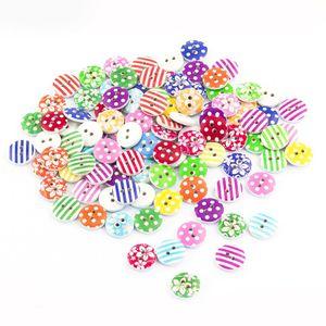 Oblique Unique 100x Holz Knöpfe Kinderknöpfe Buttons Nähen Kleidung Deko Basteln