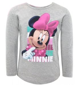 Disney Minnie Maus langarm T-Shirt Kinder Mädchen - Grau Größe 110/116