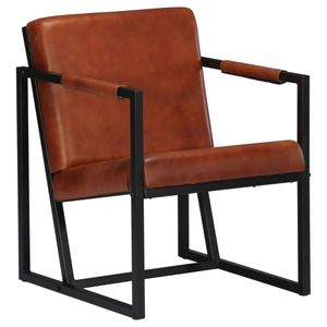 Chesterfield-Sessel Sofa Stuhl Braun Echtleder