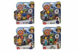 Simba 109251026 Feuerwehrmann Sam Figuren Doppelpack II, 4-sort.