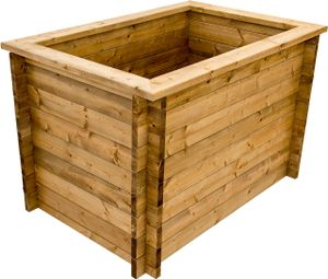 Hochbeet aus Holz, Stecksystem, Gartenbeet 145 cm