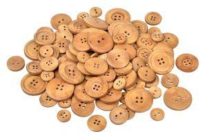 100 g Holzknöpfe, Mix in 4 Größen,  VBS Großhandelspackung