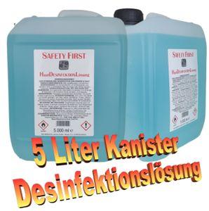 BIO ENERGO Safety First Haut / Hand Desinfektions-Lösung 5000 ml