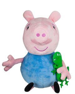 Jazwares PEP0515 - Peppa Pig - Peppa Wutz - George mit Sound, 30 cm, Plüschfigur