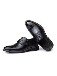 Herren Einfarbige Businessschuhe Rutschfeste Lederschuhe Leichte Abendschuhe,Farbe: Schwarz,Größe:39
