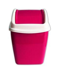 TISCHABFALLEIMER 1,1L Schwingdeckel Kosmetikeimer Papierkorb Mülleimer 51(Pink)