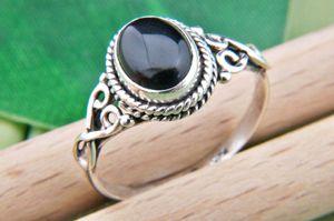 Onyx Ring 925 Silber schwarz (MRI 42-03),  Ringgröße:50 mm / Ø 15.9 mm