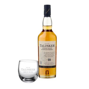 Talisker 10 Jahre, Single Malt, Schottland, Whisky, Scotch, Alkohol, Alkoholgetränk, Flasche, 45.8%, 200 ml, 677132, inklusive Gratis Glas