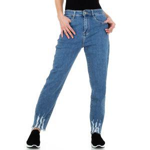 Ital-Design Damen Jeans Boyfriend Jeans Blau Gr.40