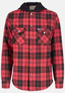 Goodyear Flanell-Hemd Woodchopper mit wärmendem Innenfutter Red / Black Checks M