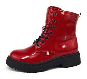 Indigo  Kinderschuhe Mädchen Schnürstiefel Stiefel Rot Freizeit, Schuhgröße:EUR 31